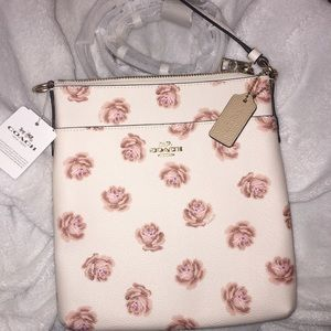 Coach cross-body floral bag